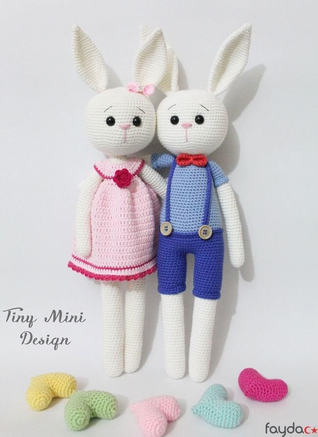 Uzun Kulaklı Tavşan Ücretsiz Tarifi- Amigurumi Oyuncak   894x650